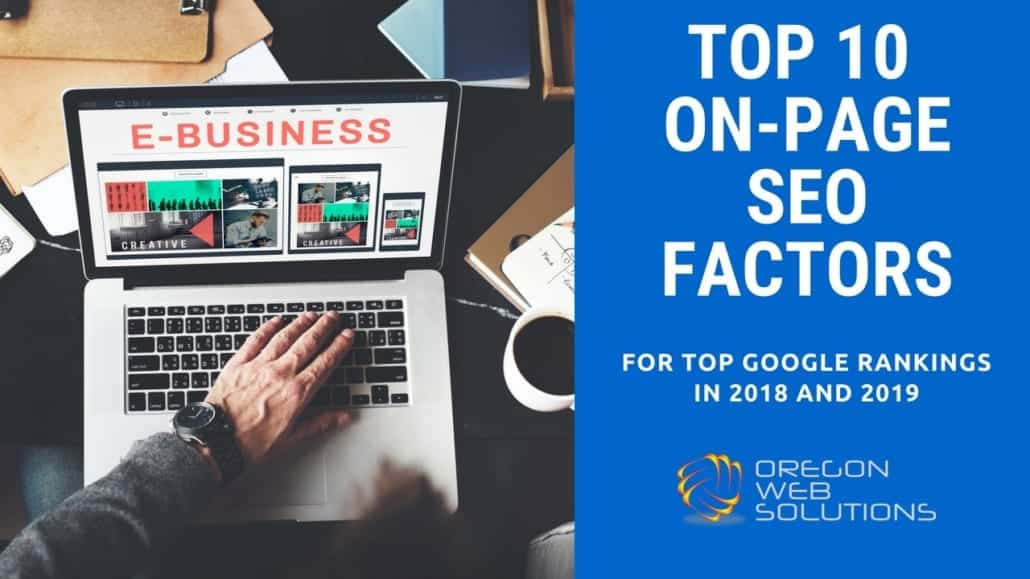 A picture of the top 10 on page seo ranking factors