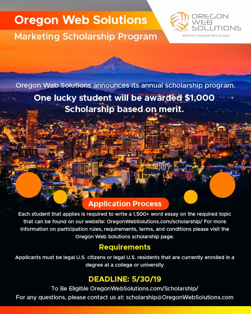 a pic of a Marketing Scholarship