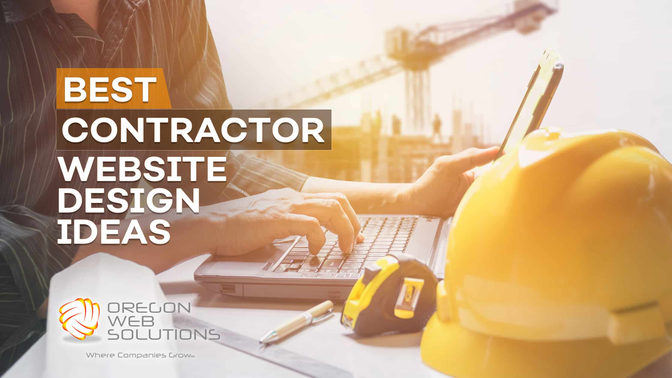 a picture of a contractor website design