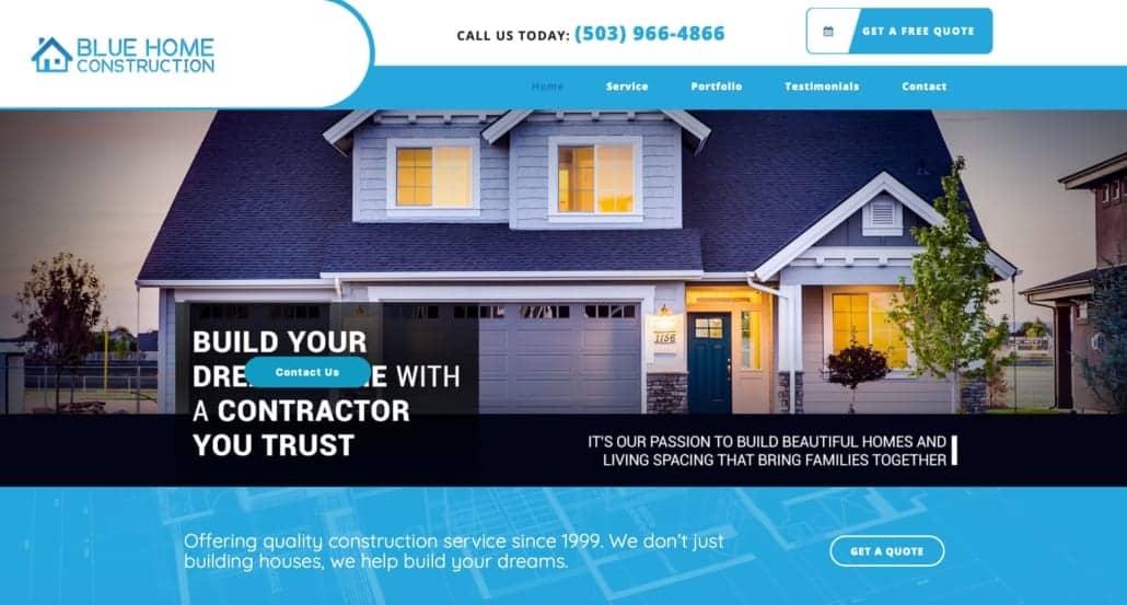 Construction company website